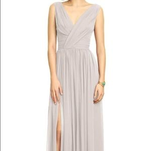 Bridesmaid Dress - Surplice Ruched Chiffon Gown